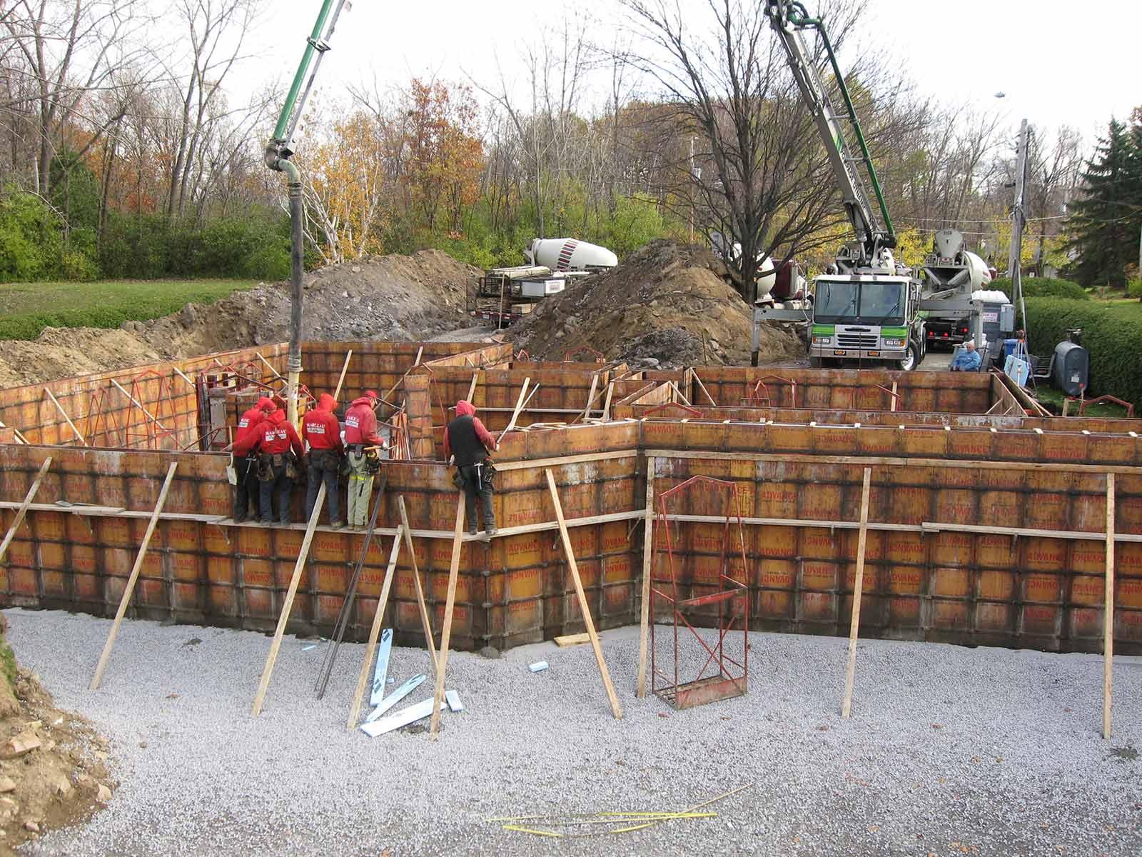 construction maison fondation
